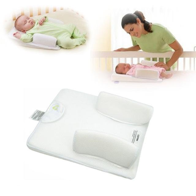 Travesseiros de bebê Travesseiro Bebê Recém-nascido Anti Rolo Sono Cabeça Posicionador Prevent Flat Almofada Nova 2015 -- MKA018 PT49 Atacado