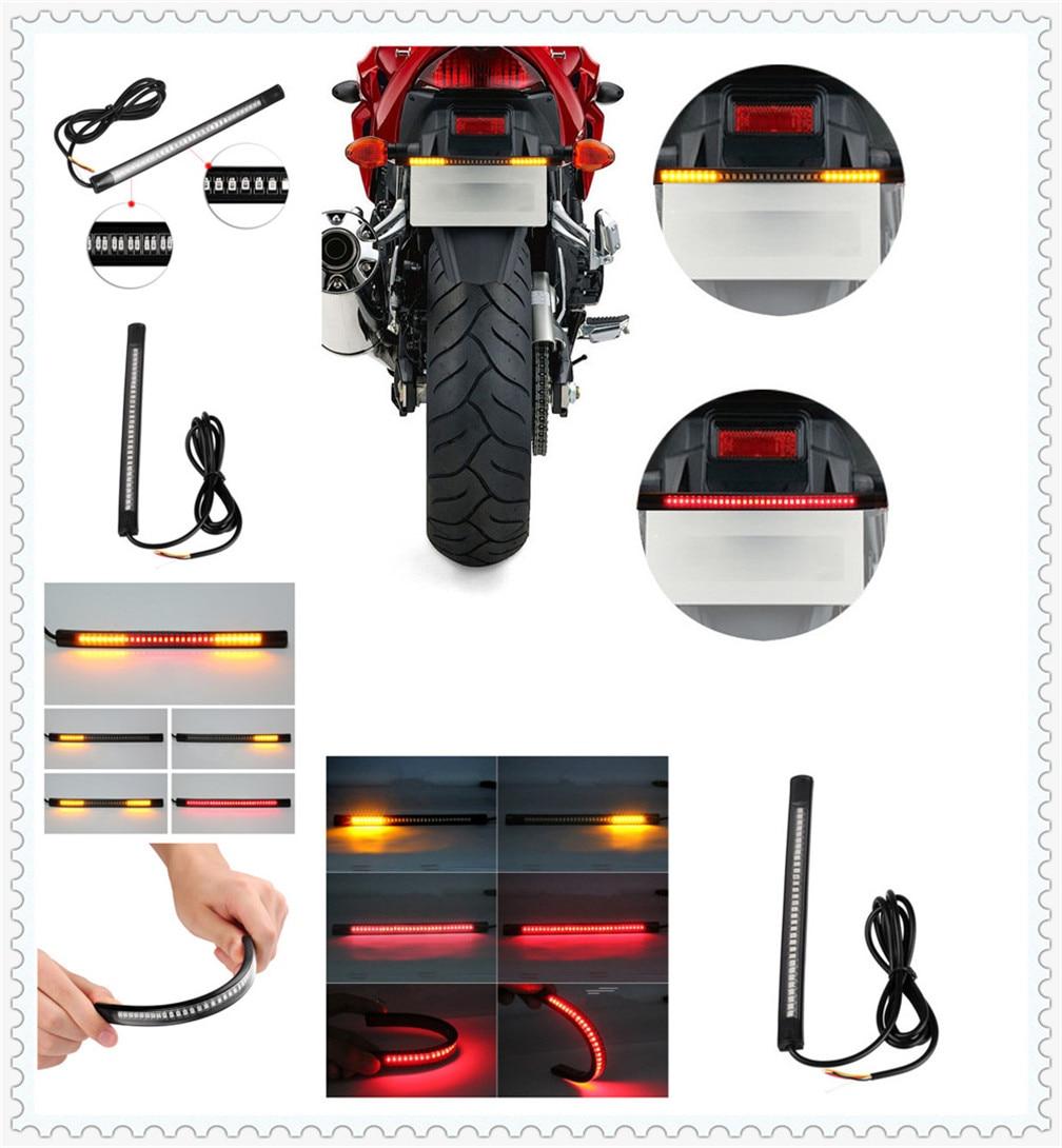 Motorcycle LED waterproof light strip steering warning with casing for HONDA CBR650F CB650F CBF1000 VF750S SABRE VFR750 VFR800 F