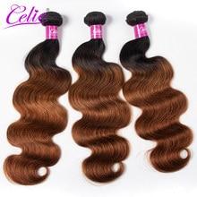 Tissage en lot Body Wave brésilien Remy coloré ombré 1B 30 – Celie Hair, offre de lots de 3