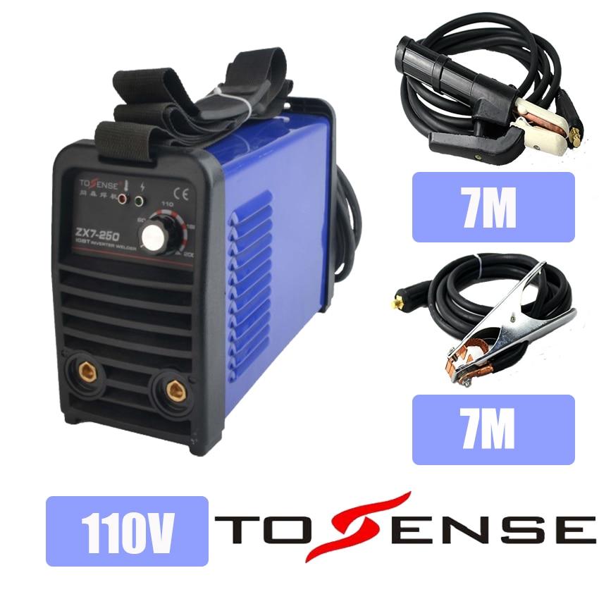 110V Single Voltage New ARC Welding Machine MMA ZX7 250 DC inverter 250A Welder 50/60HZ Longer Ground Clamp & Holder 7M