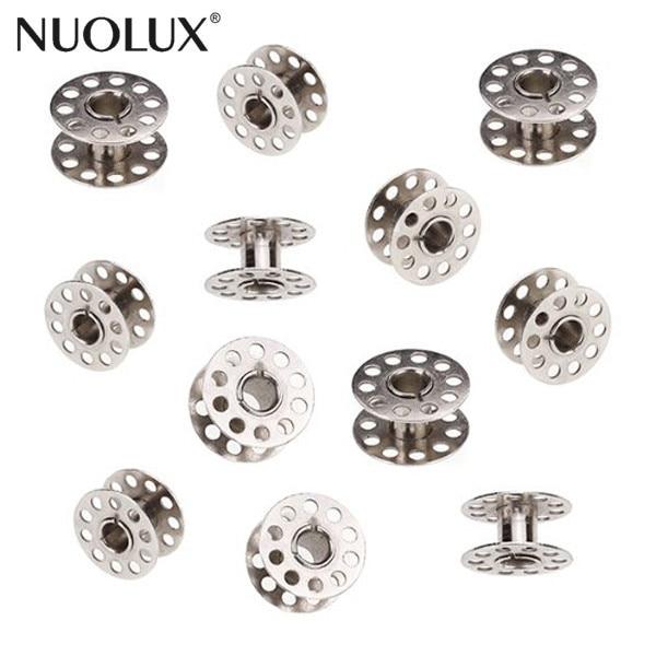 10 piezas de Metal giratoria bobinas para máquina de coser hilos de coser vacía bobinas casa accesorios de costura