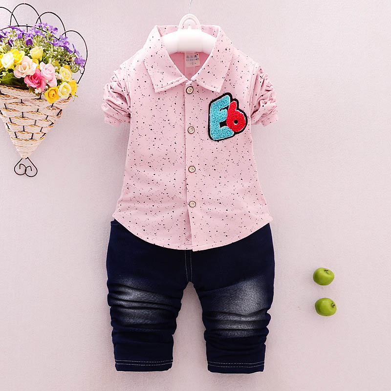 BibiCola infant children boys clothing sets cartoon T-shirts +denim pants 2pcs baby boys casual sports outfits kids clothes