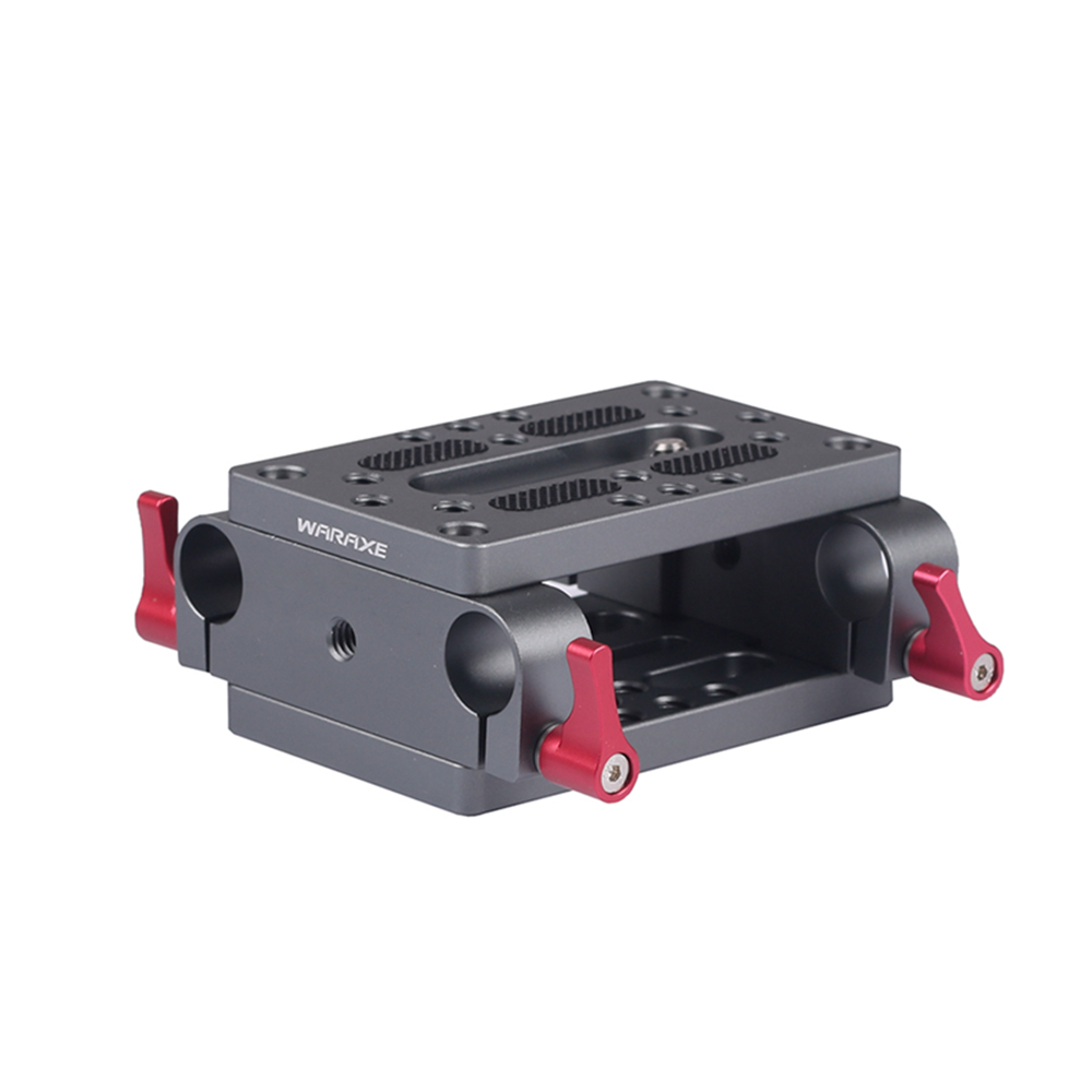 Монтажная пластина для камеры штатив монопод Монтажная пластина с 15 мм стержневыми зажимами Railblock для стержневой опорной рельсы DSLR камера Rig Клетки для камер      АлиЭкспресс