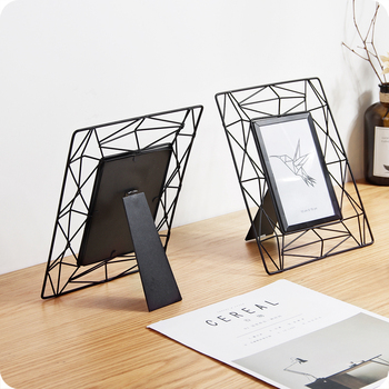 1 pc 6in Creative ברזל מסגרת תמונה משפחת עיצוב הבית