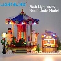 Lightaling Led Light Set For Christmas Winter Village Market Building Block Compatible With Lego10235 Excluding Model