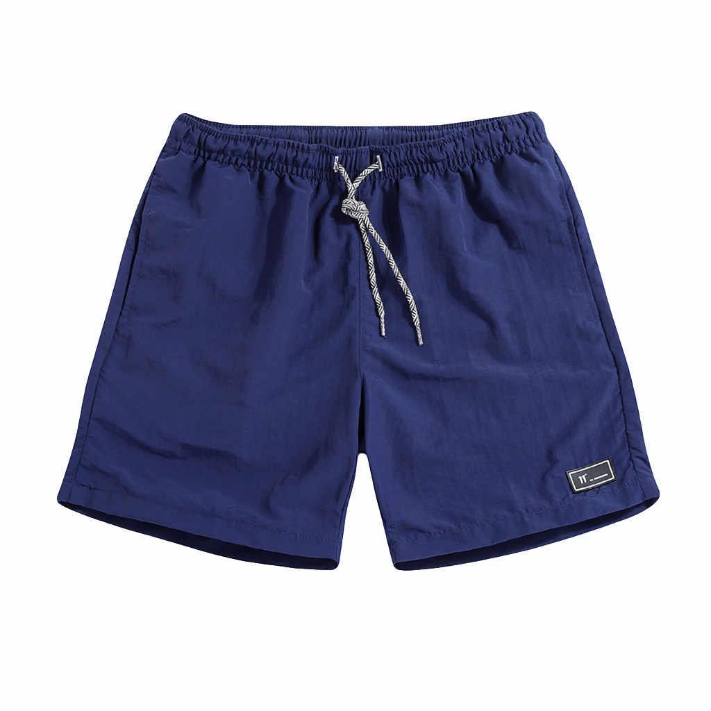 2019 nowe szorty mężczyźni lato Plus rozmiar cienkie szybkoschnący spodnie plażowe sportowe na co dzień krótkie spodnie odzież Spodenki krótkie homme