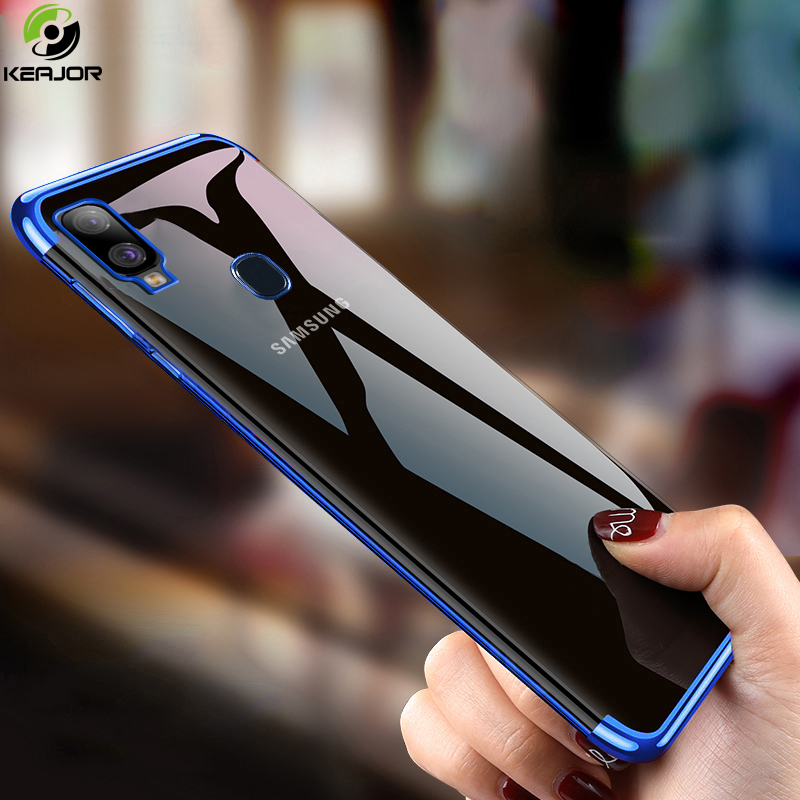 Keajor étui pour Samsung Galaxy A40 étui de luxe placage Transparent couverture arrière en Silicone souple pare-chocs pour Samsung A40 A 40 couverture