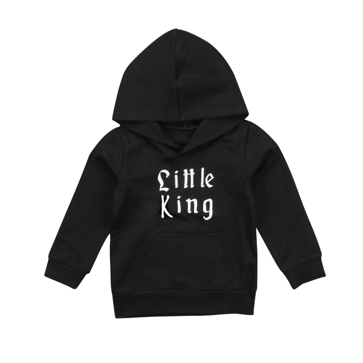 Fashion Toddler Kids Baby Boys Outwear Hooded Hoodies Top Outerfits Casual Letters Printed Baby Boy Hoodies