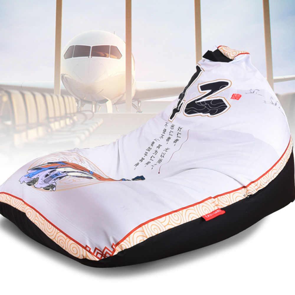 Levmoon погремушка диван стул ren Pring сиденье Zac комфорт Bean Bag кровать покрытия без Filling100 % хлопок indoor Beanbags Lounge стул
