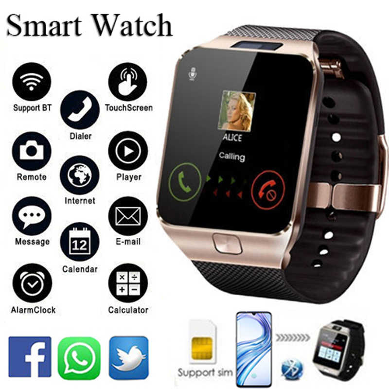 Bluetooth Smart Watch DZ09 Smartwatch Ponsel Android Call Connect Pria 2G GSM SIM TF Kartu Kamera untuk iPhone samsung Huawei