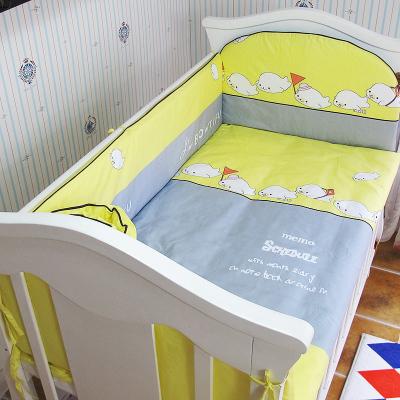Promoção! 5 PCS 100% algodão conjunto fundamento do bebê kit berco lençóis super macio, inclui :( amortecedores + ficha)