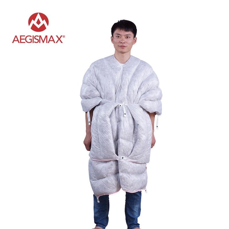 Aegismax minuscule 32 Degee 850FP sac de couchage en duvet d'oie Camping en plein air ultra-léger sacs de couchage complet avec sac de Compression