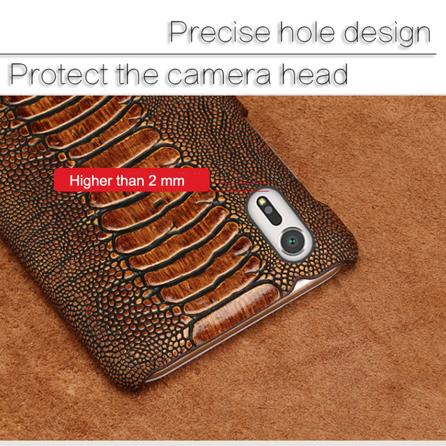 Vintage Leather case for Sony Xperia XZ2 XZ1 Premium XA1 Plus XZ2 Ostrich Foot leather case Shell For Sony XA2 ultra Z5 PLUS