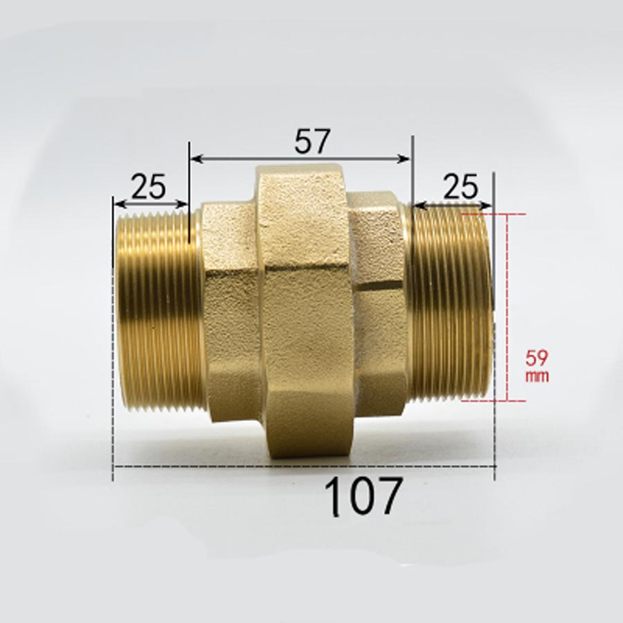 DN50 G 2 BSPP Male Brass Socket Union Pipe Fitting Coupling Water Gas Oil