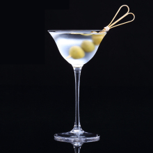 Lead-free crystal Glass wine cup Japanese-style UFO dry martini glass goblet  Manual blowing Party bar Drinkware