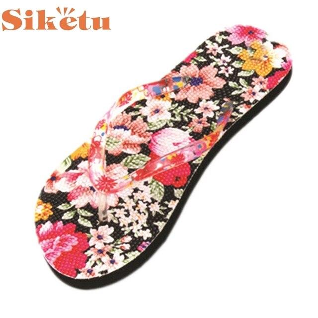 Женщины Сандалии Высокое Качество Цветы Главная Вьетнамки Toepost Тапочки Пляжная Обувь Sandalias LFY118 17Mar9