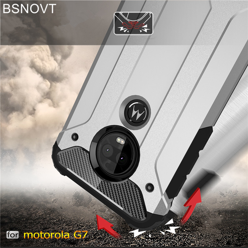 For Motorola Moto G7 Case Cover Silicone Hard Rubber Armor Anti-knock Phone Case For Motorola Moto G7 Cover For Moto G7 BSNOVT