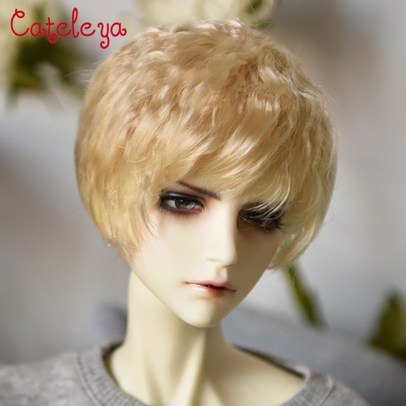 Cateleya Bjd Wig Imported Super Soft Silk Lazy Male God Wind Micro Volume Bubble Head Short Hair 1/6 1/4 1/3 Doll Accessories