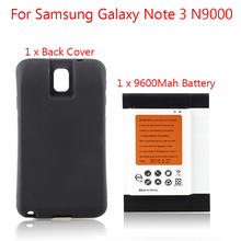 High Capacity 9600mAh Replacement NFC baterias For Samsung Galaxy Note 3 N9000 Battery + Back Case For Samsung Galaxy Note3