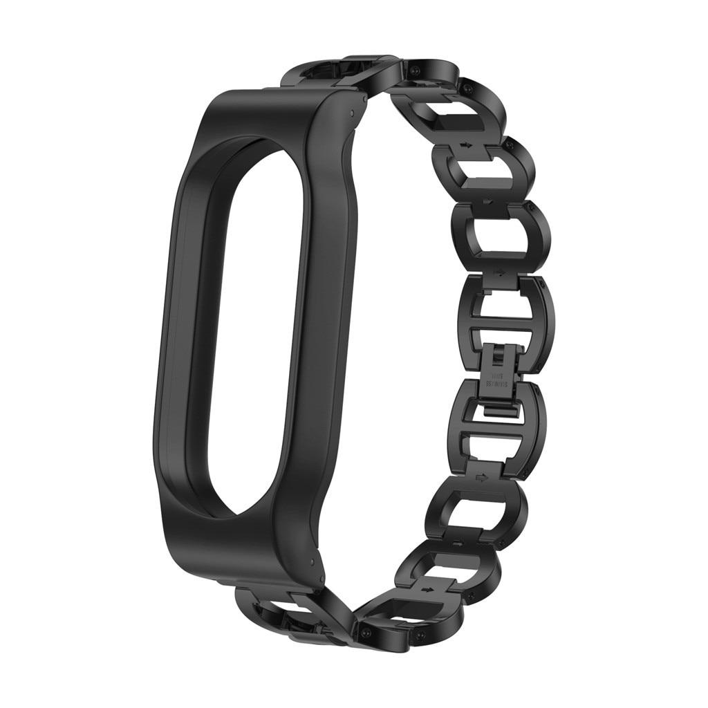 Watchbands Watch Strap For Xiaomi Mi Band 2  Smart Wrist Strap Watch Band Stainless Steel Chain Style Bracelet Wristband 19JUL2
