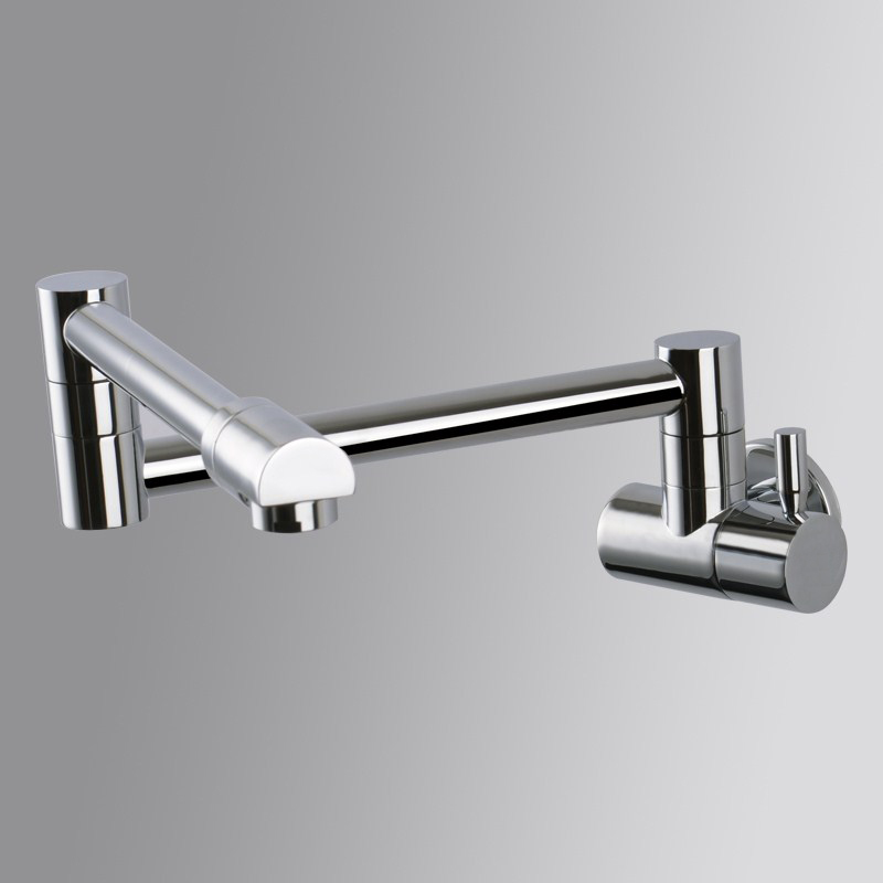 Single Lever Rotate Folding Spout Bathroom Kitchen Faucet Wall Mount ...