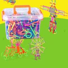 370Pcs DIY Funny Building Blocks Kids Puzzle Assembling Construction Set Educational Blocks Toys For Children Christmas Gift