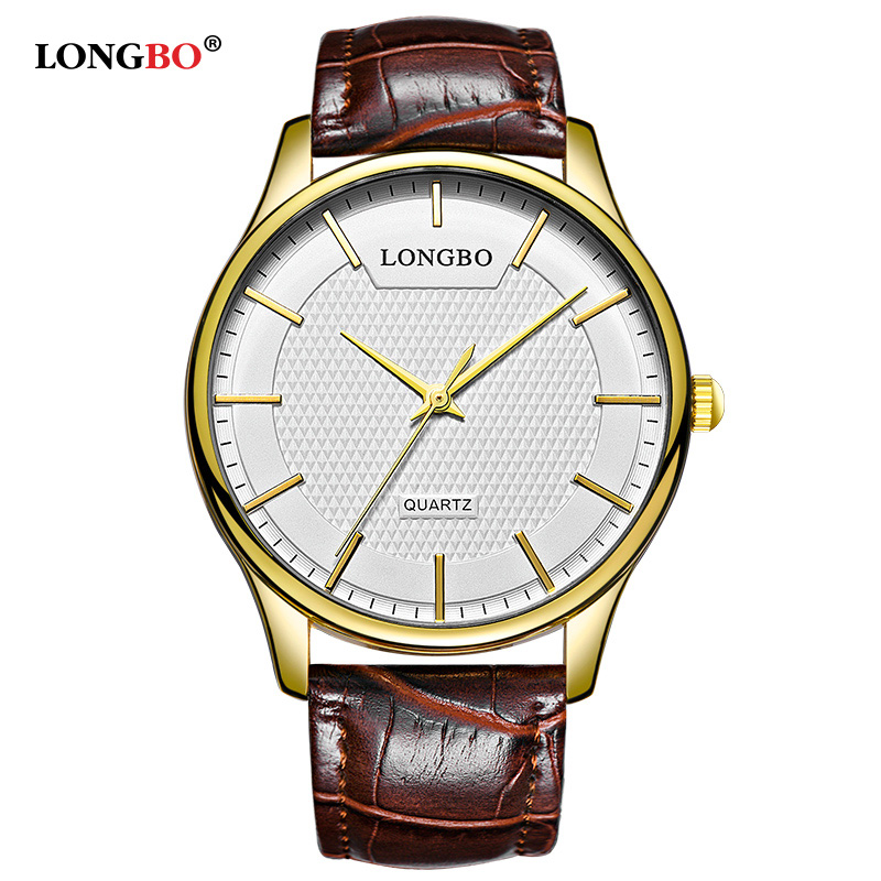 LONGBO New Fashion Couple Watch Gifts Simple Luxury Men Women Watches Casual Waterproof Quartz Wristwatch Male Reloj Homme 80301