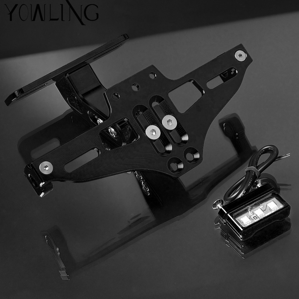 Motorcycle Accessories CNC Rear License Plate Mount Holder with LED Light For Honda MSX 125 300 MSX125 MSX300 125MSX 300MSX in Covers Ornamental Mouldings from Automobiles Motorcycles