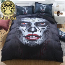 Medusa 3D bloody mary bed set single double bed king queen single size duvet/doona cover set