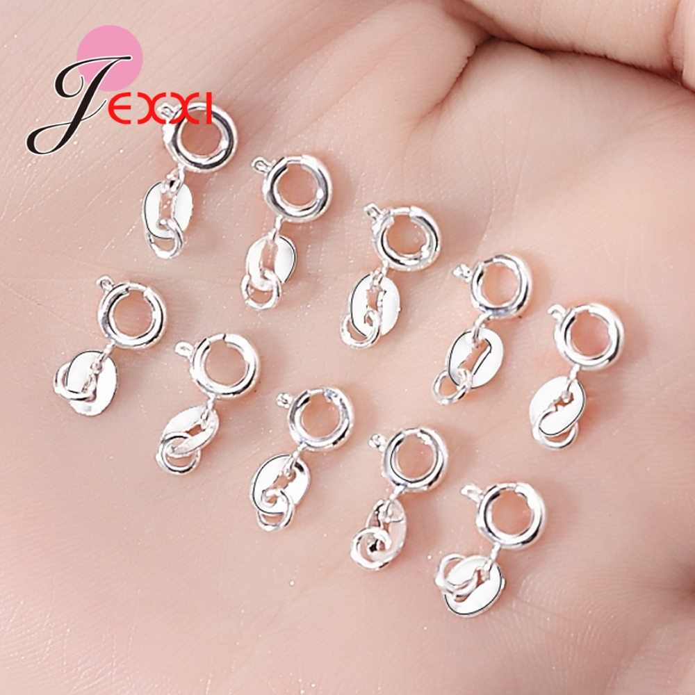 10PCS 925 Sterling Silver Metal Lobster Clasps Hooks Bracelet End Connectors for Jewelry Making DIY Necklace Accessories