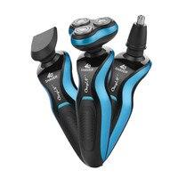 3 In 1 Electric Shaver Triple Blade Razor Men Clipper Rechargeable Shaving 4D Professional Beard Trimmer Razor Nose Trimmer secadora plancha rizadora