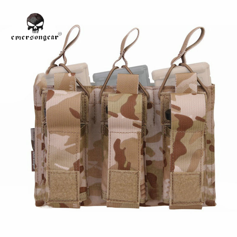 Emerson Military font b Tactical b font Triple 5 56 Pistol Magazine Pouch font b Knife