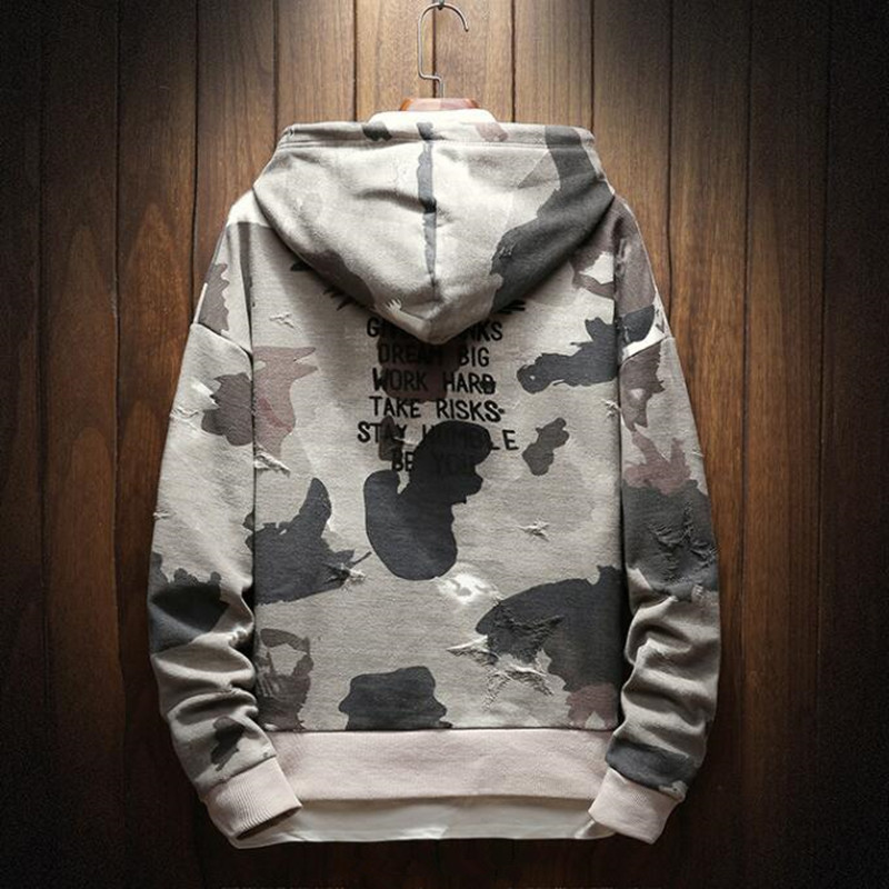 Spring and Autumn 2019 New Men's Headdress Guard Camouflage Hip-hop Loose Hat Handsome Air Guard Clothes Fake Two Youth Tops 9