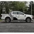 Para ford ranger 2012 2017 adesivo 10pc lado bpdy tronco traseiro geometria pneu faixas ranger proteger risco gráfico vinyls decalques