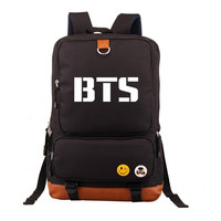 Women Backpack BTS Kpop Bangtan Boy Girl New Book Bag Backpack Student Book Shoulder Bag BTS