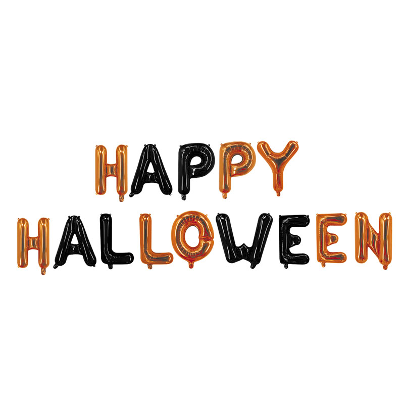 aliexpress com buy 14 pieces happy halloween letter foil balloons