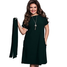 Plus Size Maxi Straight Solid Ladies Dress