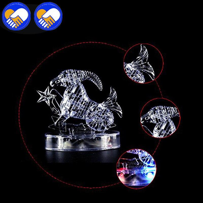 Игрушка Мечта 3D Crystal Puzzle мигающий светодиод двенадцать созвездий гороскоп/Козерог головоломки игрушки развивающие Игрушечные лошадки