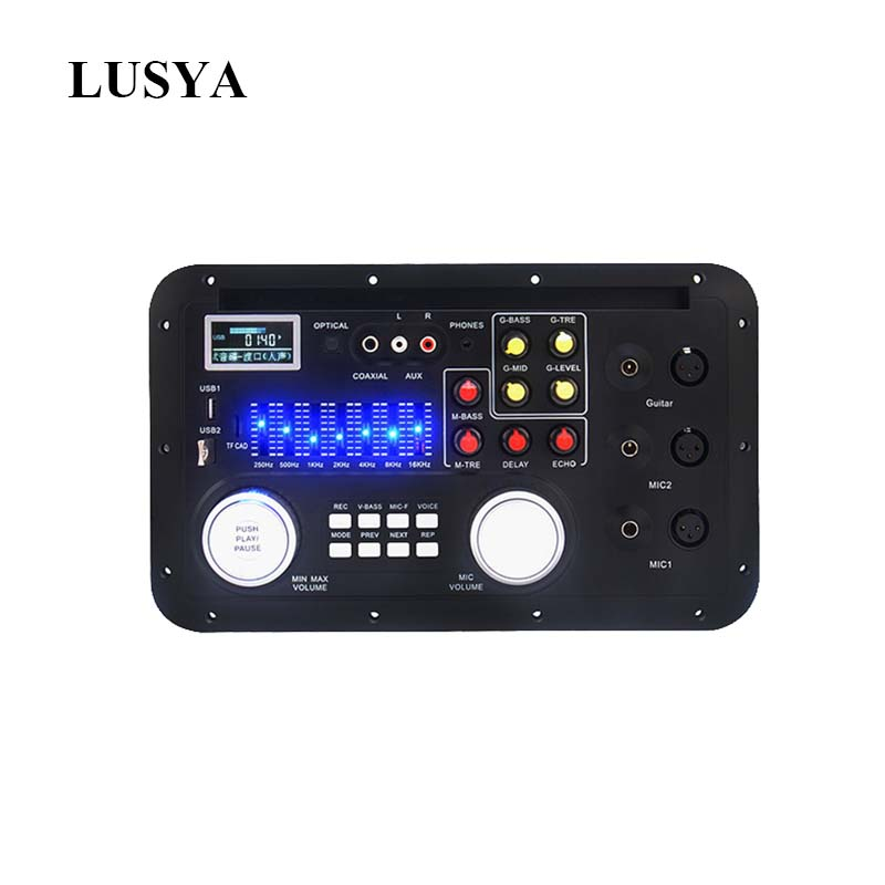 Lusya Lossless DSP Bluetooth MP3 Decoder Board Karaoke Preamp Mixer EQ Lossless Fiber Coaxial Equalizer For Amplifier T0113