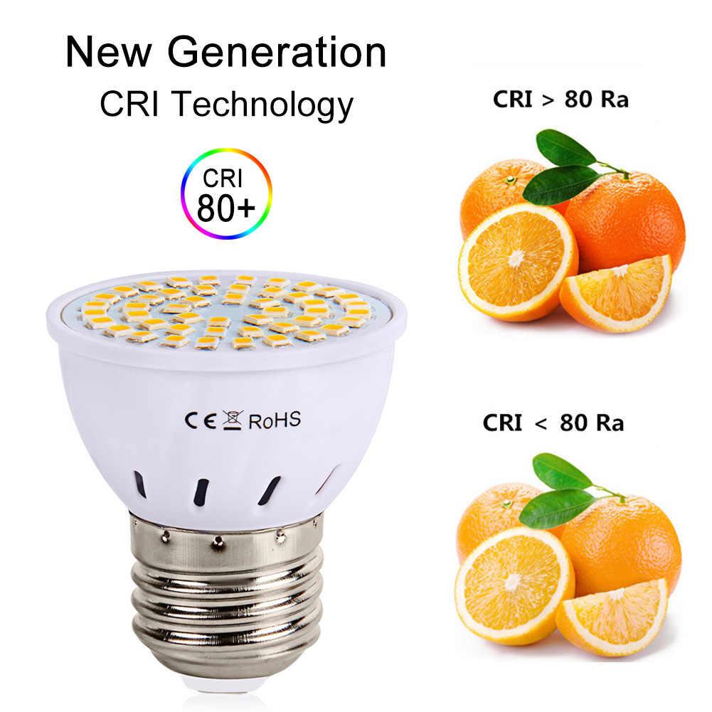 E27 светодиодный лампы GU10 светодиодный светильник 220 V SMD 2835 MR16 48 60 80 светодиодный s теплый белый холодный белый настенные светильники для домашнего украшения ампулы