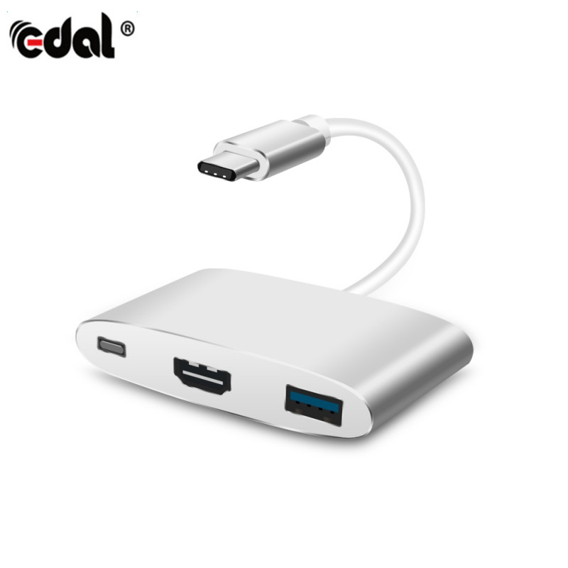 Type C To HDMI USB 3.0 Charging Converter Adapter Digital AV Multiport Adapter For New M ...