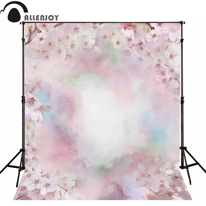 Allenjoy photography backdrops Pink China Wind Flower photo background newborn baby photocall lovely photo studio