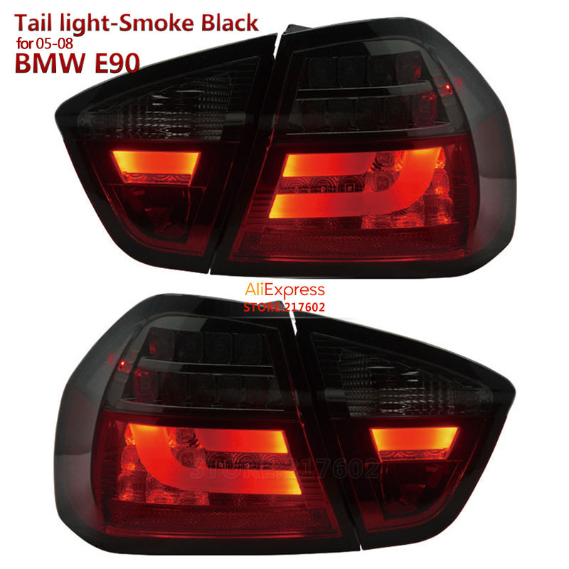 SONAR brand for BMW 3-Series E90 320i 323i 325 330 335 LED Rear Light LED Tail light 2005-2008 Smoke Red Color camber plates for bmw 3 series e46 320 323 325 328 m3 316 1998 2005 top mounts golden plates pillow ball golden