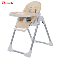Five point seat belts Portable Folding Adjustable baby High chair baby Feeding Play chair children Double plate Highchair K06