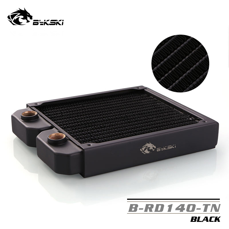 Bykski Black water cooling <font><b>140mm</b></font> Copper Radiator,about 28mm thickness ,better for 12cm ,25mm thick <font><b>fan</b></font>,drop shipping, B-RD140-TN image