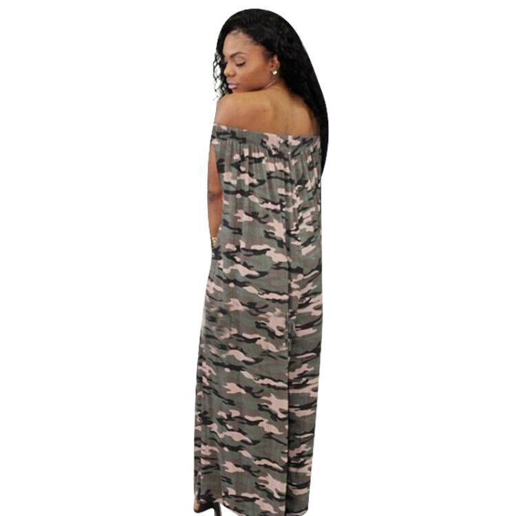 15735c61097 2019 Women New Autumn Off Shoulder Camouflage Print Loose Straight ...