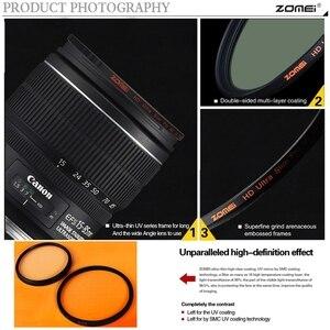 Image 4 - ZOMEI HD 40,5/49/52/55/58/62/67/72/77/82MM Ultra delgado 18 capas Multi recubierto Pro MCUV filtro Protector de lente