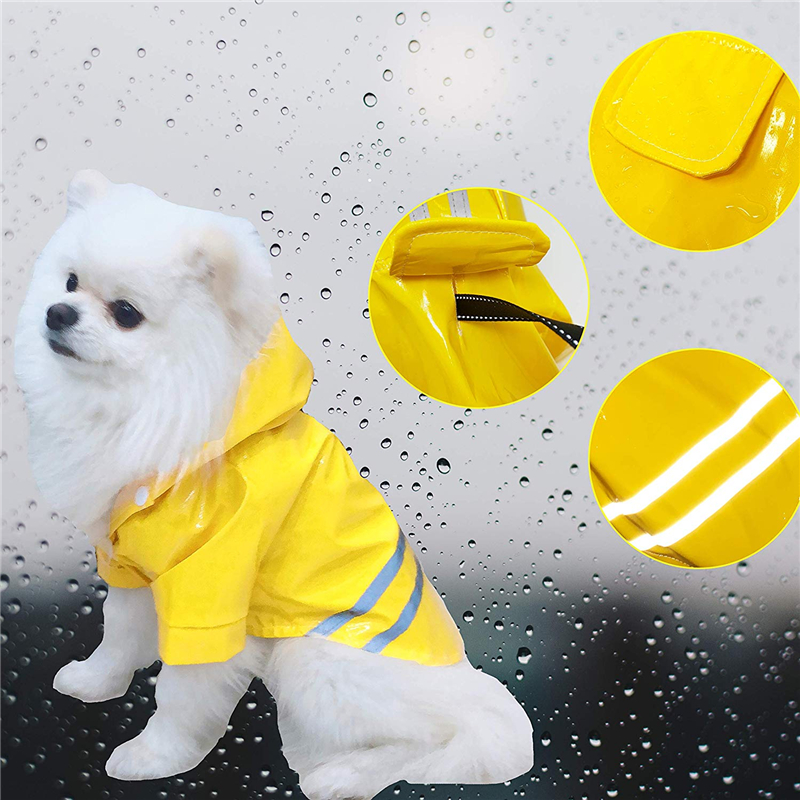 Waterproof Reflective Safety Vest Pet Dog Clothes For Small Dog Raincoat Hoodies Rain Chihuahua Pet Apparel Dog Clothing in Dog Raincoats from Home Garden