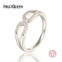FirstQueen 100 Authentic 925 Sterling Silver Nature Stone Finger Rings For Women Sterling Silver Jewelry