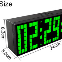 Digital Multi function LED with Snooze Luminous Function Timer Desktop Luminous Remote Control Can Hang Electronic Alarm Clock